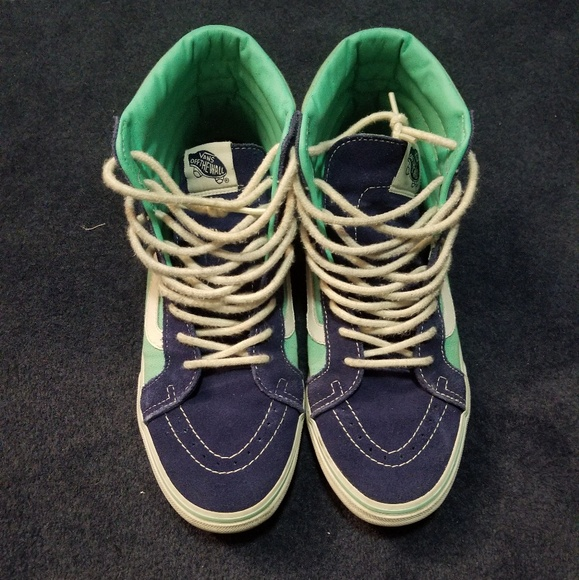 fb4e2804d5b3 Vans Shoes - Vans Sk8 Hi Slim Turquoise Navy
